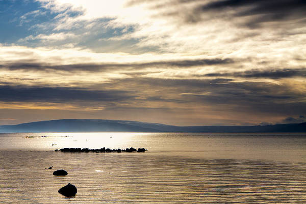 Golden Waters Of Galway Bay Art Print by Mark Tisdale