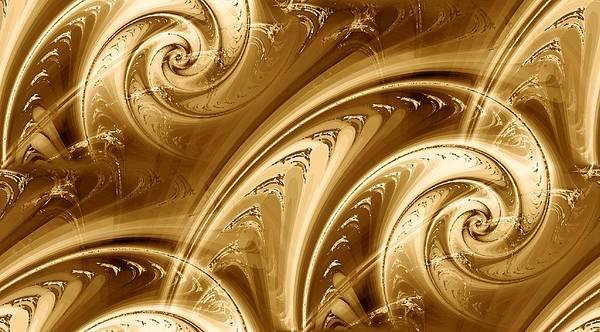 Digital Art - Golden Waves by Anastasiya Malakhova