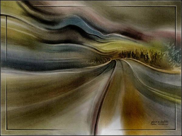 Goldencoroadscapeb'10 Art Print