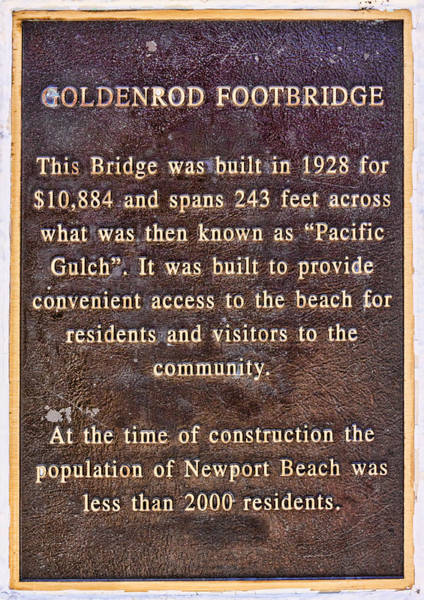 Digital Art - Goldenrod Footbridge Plaque by Photographic Art by Russel Ray Photos