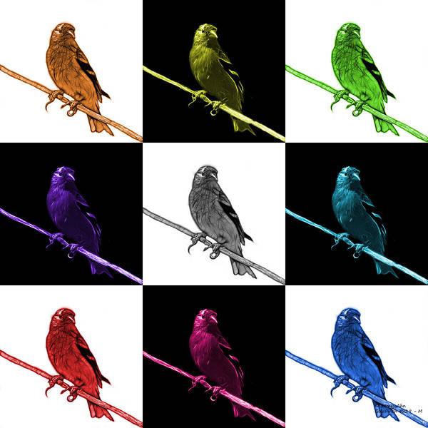 Digital Art - Goldfinch - 2235 M -v2 by James Ahn