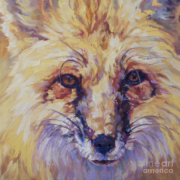 Painting - Goldie by Patricia A Griffin