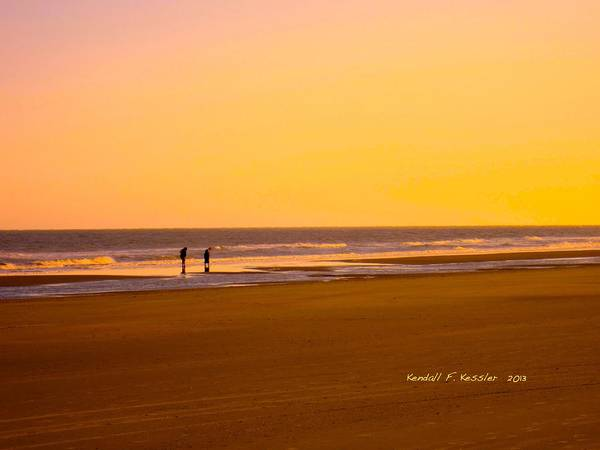 Photograph - Goldlen Shore At Isle Of Palms by Kendall Kessler