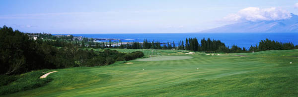 Traps Photograph - Golf Course At The Oceanside, Kapalua by Panoramic Images