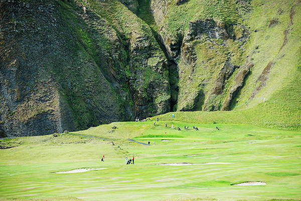 Photograph - Golf Course In A Volcanic Crater by Christian Kober / Robertharding