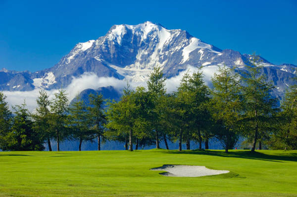 Photograph - Golf Course In The Mountains - Riederalp Swiss Alps Switzerland by Matthias Hauser