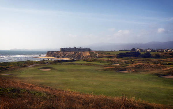Half Moon Bay Photograph - Golf Course On Half Moon Bay by Mountain Dreams
