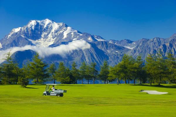 Photograph - Golf Course Riederalp Swiss Alps Switzerland by Matthias Hauser