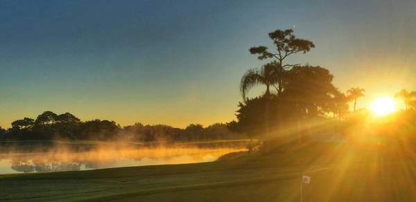 Photograph - Golf Course Sunrise by Pat Moore