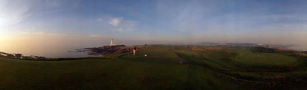 Ayrshire Photograph - Golf Course With A Lighthouse by Panoramic Images