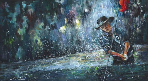 Hallucination Painting - Golf Delirium Nocturnum 01 by Miki De Goodaboom