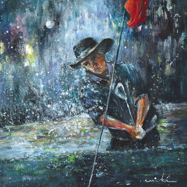 Hallucination Painting - Golf Delirium Nocturnum 02 by Miki De Goodaboom