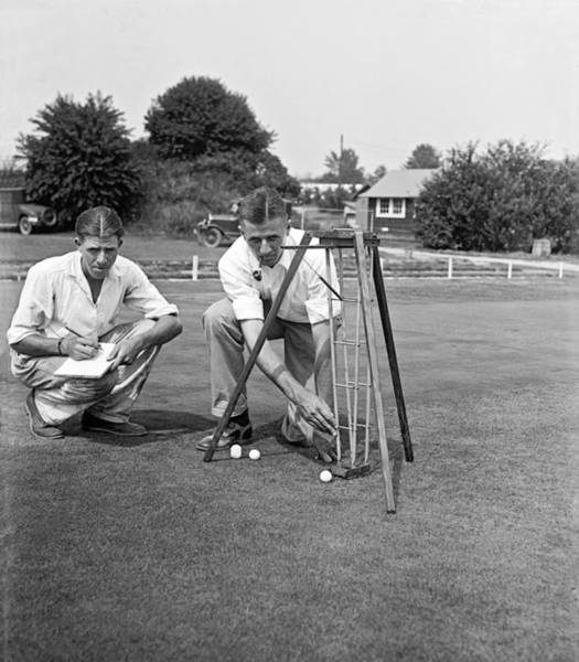 Photograph - Golf Green Experiments by Underwood Archives