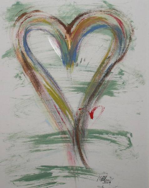 Painting - Golf Heart by Marian Palucci-Lonzetta