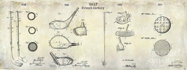 Golf Green Photograph - Golf Patent History Drawing by Jon Neidert