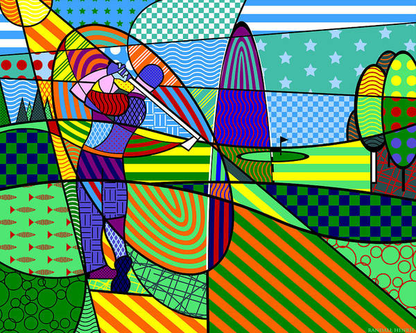 Digital Art - Golf by Randall Henrie