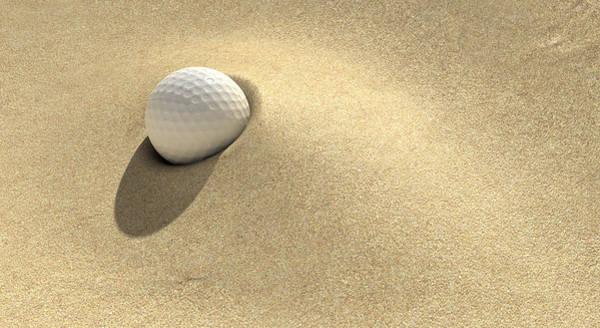 Buried Wall Art - Digital Art - Golf Sand Trap by Allan Swart