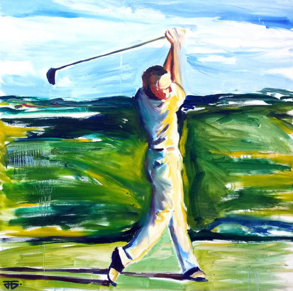 Painting - Golf Swing by John Jr Gholson