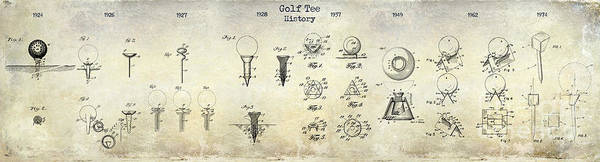 Golf Green Photograph - Golf Tee Patent History Drawing by Jon Neidert