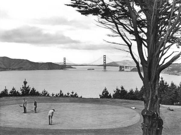 1937 Wall Art - Photograph - Golf With View Of Golden Gate by Ray Hassman
