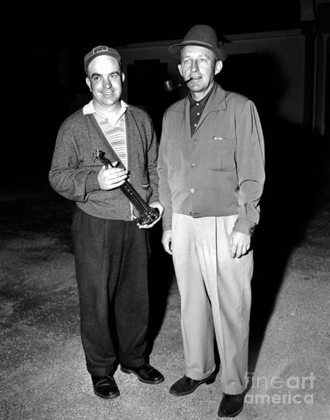 Photograph - First Lieutenant  William F. Brotbeck And Bing Crosby At Bing Crosby National Pro-am Golf Champ by California Views Archives Mr Pat Hathaway Archives