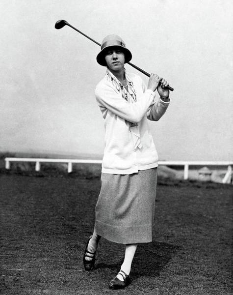 Golf Club Photograph - Golfer Joyce Wethered by Acme