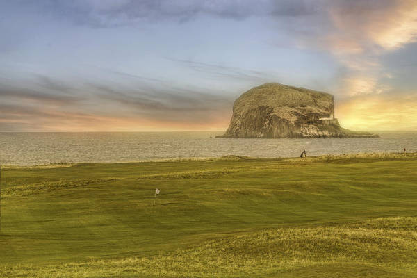 Photograph - Golfing With Bass Rock - Scotland - Golf - North Berwick by Jason Politte
