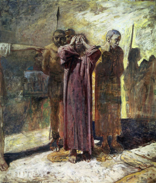 Spear Wall Art - Photograph - Golgotha, 1892-93 Oil On Canvas by Ge