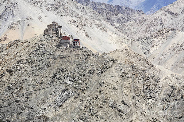 Northern India Photograph - Gompa And Fort In Ladakh by Robert Preston