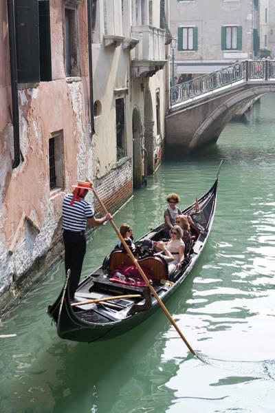 Oar Photograph - Gondola Along Rio Della De Palazzo O De by Chris Mellor