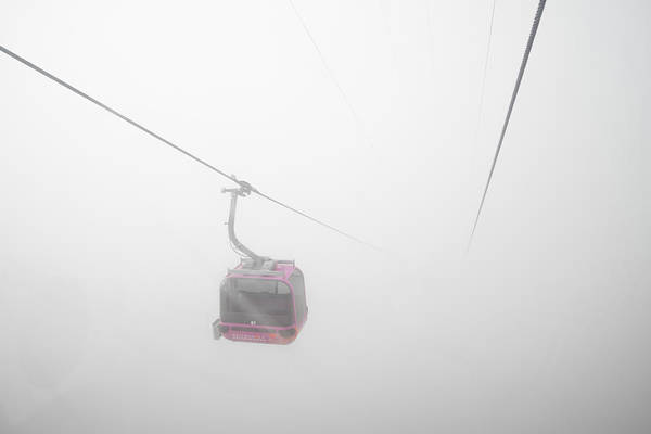 Photograph - Gondola Cable Car In The Fog by Matthias Hauser