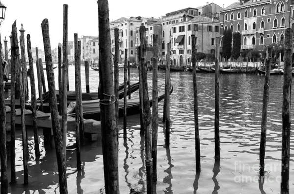 Photograph - Gondola Dock On The Grand Canal by John Rizzuto