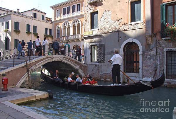 Photograph - Gondola Ride - Venice - Italy by Phil Banks