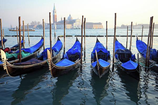 Public Places Wall Art - Photograph - Gondolas At San Marco, Venice by Mura
