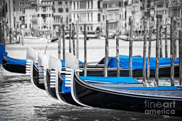 Gondola Photograph - Gondolas by Delphimages Photo Creations