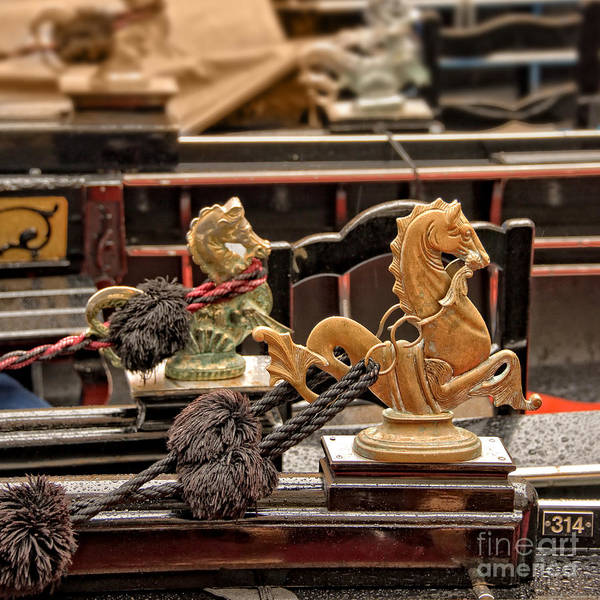 Gondola Photograph - Venetian Horses by Delphimages Photo Creations