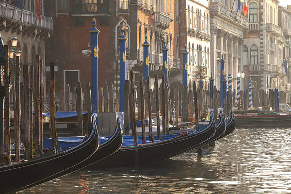 Wall Art - Photograph - Gondolas In Sunset by Patricia Hofmeester