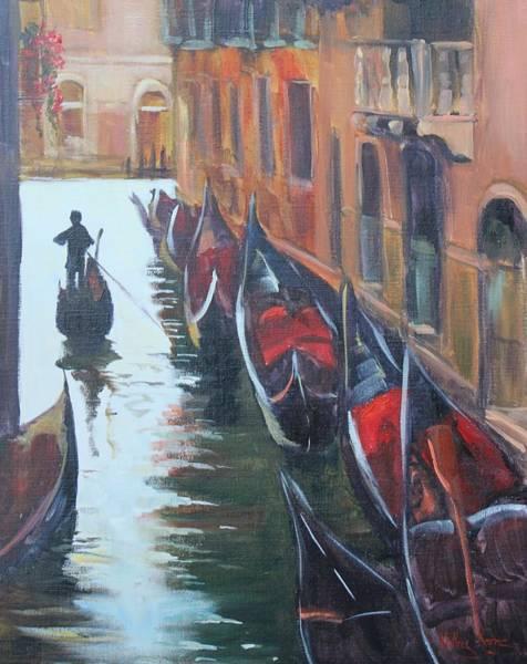 Painting - Gondolas  by Kathy  Karas