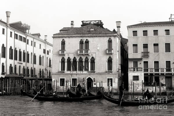 Photograph - Gondolas On The Grand Canal 2015 by John Rizzuto