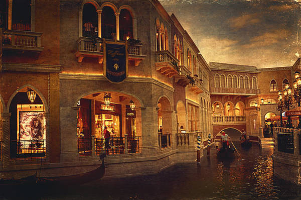 Venetian Digital Art - Gondolas Riding On The Canal by Maria Angelica Maira
