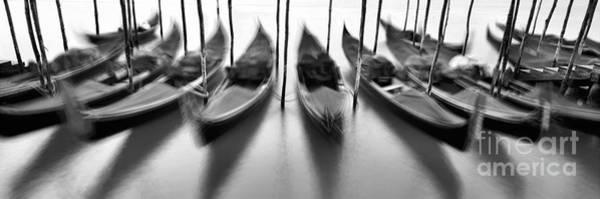 Gondola Photograph - Gondolas - Venice by Rod McLean