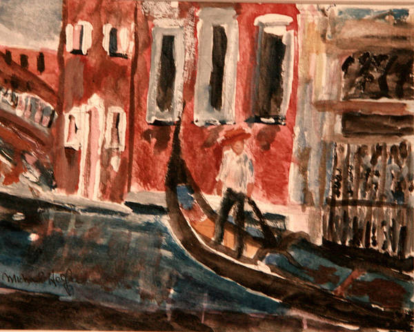 Painting - Gondolier by Michael Helfen