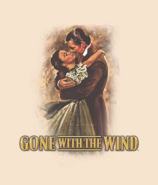 Wind Digital Art - Gone With The Wind - Embrace by Brand A