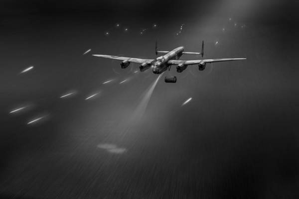 Photograph - Goner From Dambusters Lancaster J-johnny Black And White Version by Gary Eason