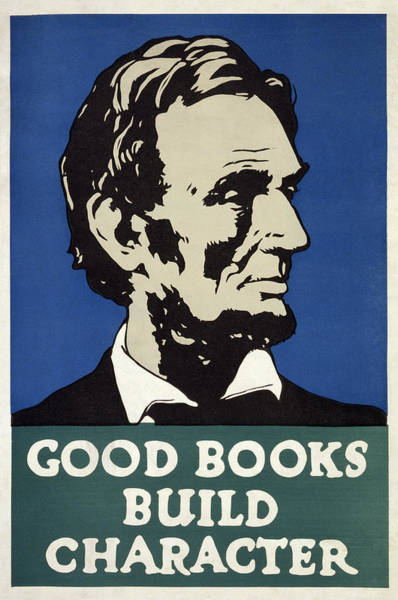 Wall Art - Photograph - Good Books Build Character  1925 by Daniel Hagerman