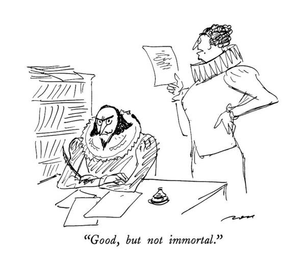 Writers Drawing - Good, But Not Immortal by Al Ross