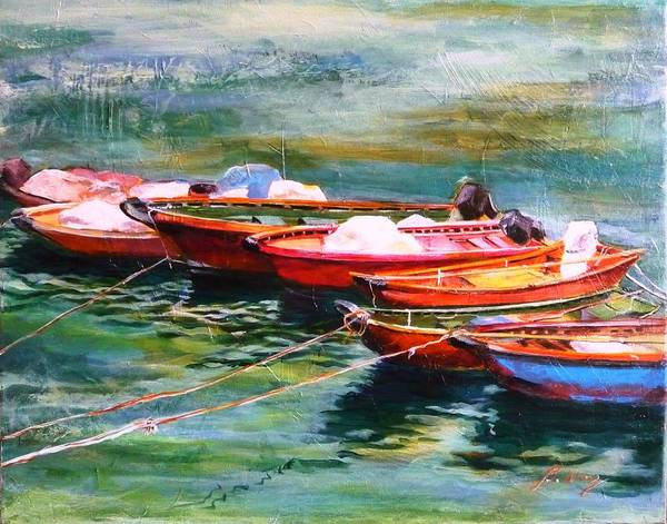 Painting - Good Companions by Betty M M Wong
