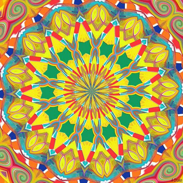 Digital Art - Good Day Sunshine Kaleidoscope by Alec Drake