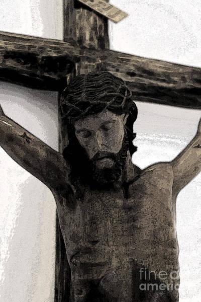 Inri Wall Art - Photograph - Good Friday Crucifixion by Al Bourassa
