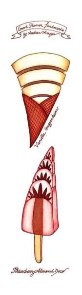 Landmark Drawing - Good Humor Landmarks by Andrea Arroyo